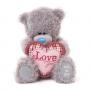 Мишка G01W3283 Тедди Me to You 18см с сердцем Я тебя люблю