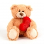 Медведь K11182A с сердцем 40см ТМ PLUSH APPLE