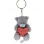 Брелок G01W3363 Мишка Тедди Me to You 7,5 см с сердцем