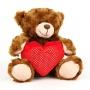 Медведь K11183A с сердцем 30см ТМ PLUSH APPLE